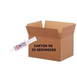 Etiquette ROUGE Seringue 20ml - Carton de 25 Seingues