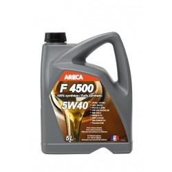 Huile moteur synthétique - ARECA -F4500- 5W40 -A3/B4Huiles Automobiles