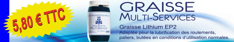 Les Indispensables Graisse Lithium EP2 Multi-Services