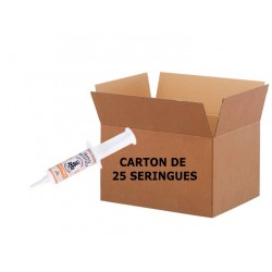 NUTROL Seringue 20ml - Carton de 25 SeringuesGraisse Contact Alimentaire