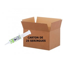 BIOBELLEVILLE Seringue 20ml - Carton de 25 SeringuesGraisse Biodégradable